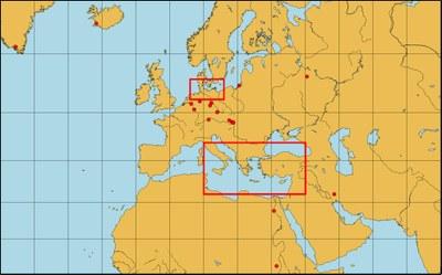 Sites of archeometric investigations
