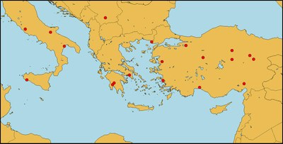 Sites in the Mediterrean Sea